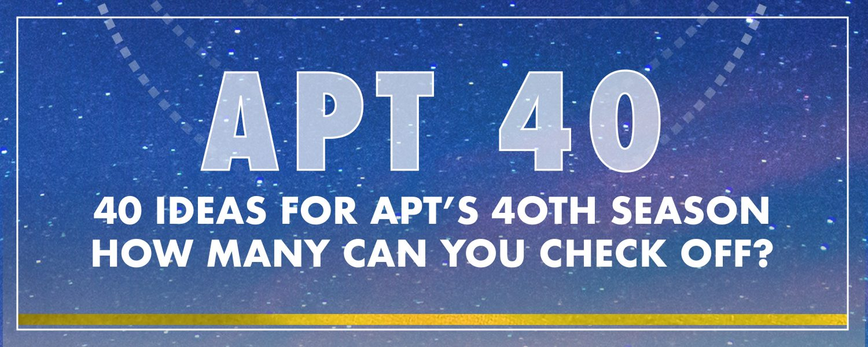 APT 40 Bucket List