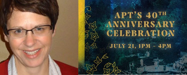 Director of Communications, Sara Young on APT's 40th Anniversary Party