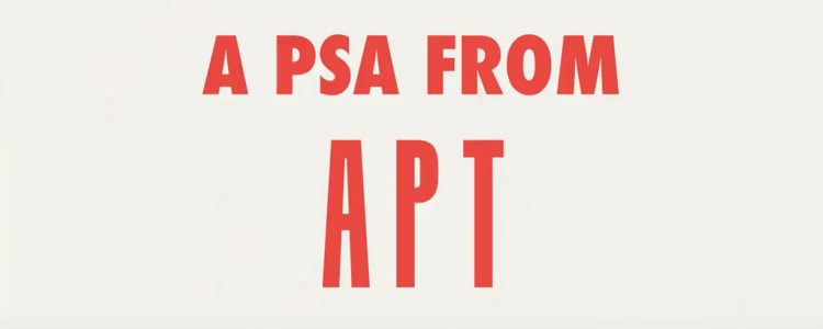 A PSA from APT