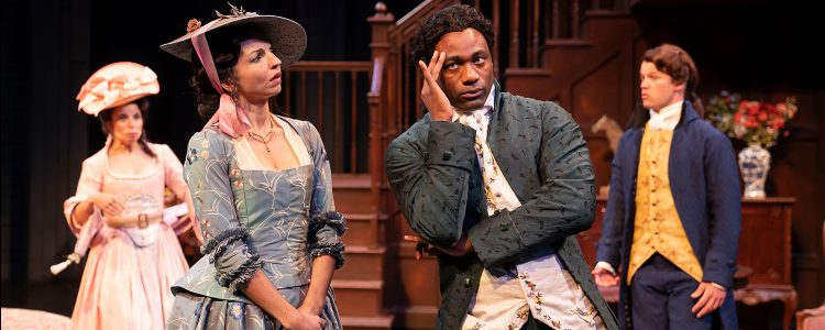 Romp in the woods at American Players: A lusty, stylish go at 'She Stoops To Conquer'
